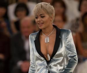 Rita Ora lors du défilé Chanel au Grand Palais, le 7 juillet 2015