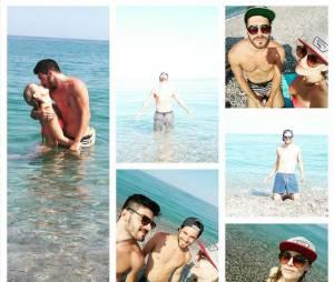 Joy Esther et Andrea : vacances en couple en Sicile, en juillet 2015