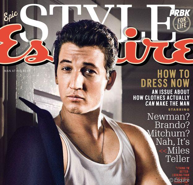 Miles Teller (Les 4 Fantastiques) insulté par Esquire en Une, août 2015