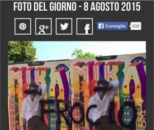 Mika, cible d'attaques homophobes avant un concert à Florence en Italie, août 2015
