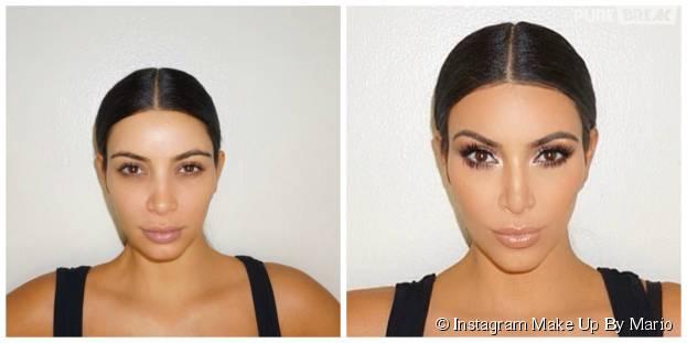 Kim Kardashian : avant/après sa séance de maquillage de contouring avecMario Dedivanovic