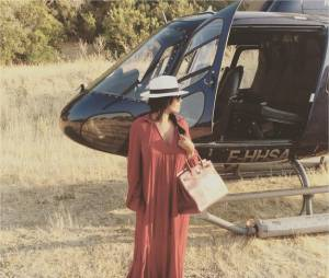 Amel Bent sublime pour son baptême d'hélicoptère