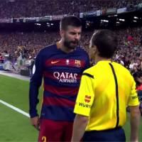 Gerard Piqué pète les plombs : insultes contre un arbitre en plein match et menaces de suspension