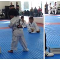 Trop cute : un petit garçon essaie de casser une planche à son cours de Taekwondo