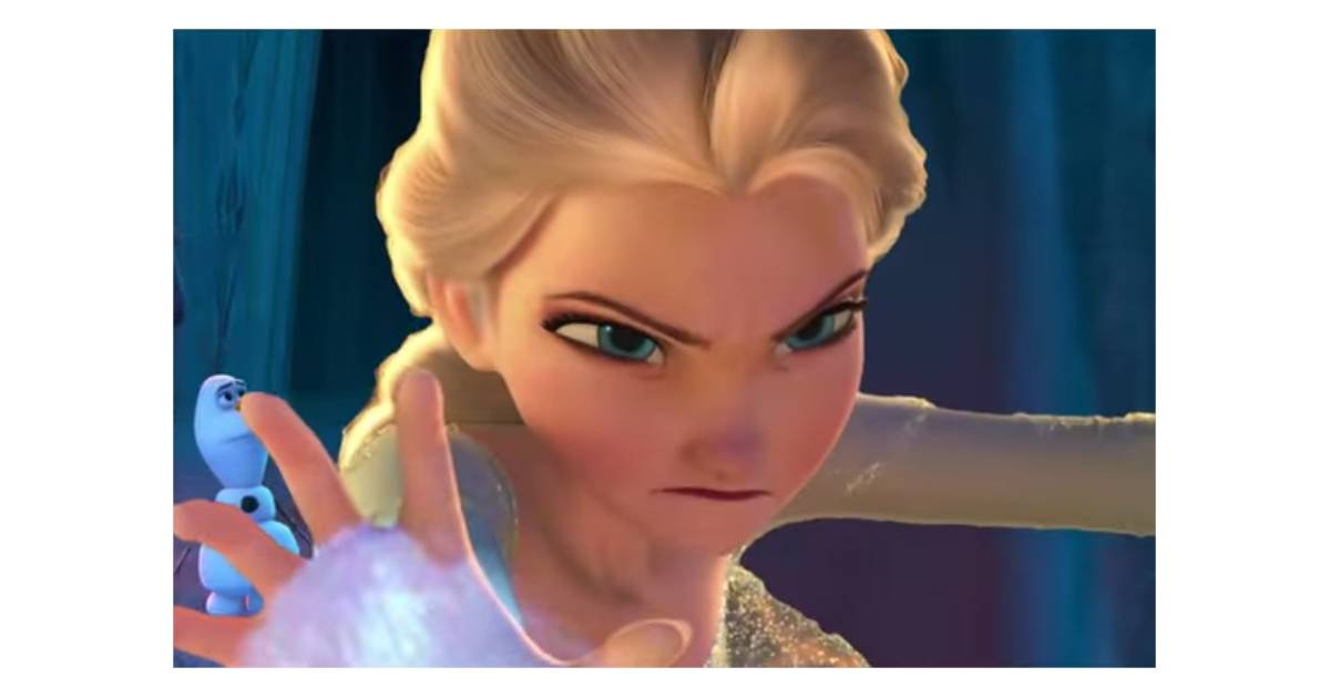 La reine des neiges elsa m chante dans un montage vid o effrayant purebreak - La reine elsa ...