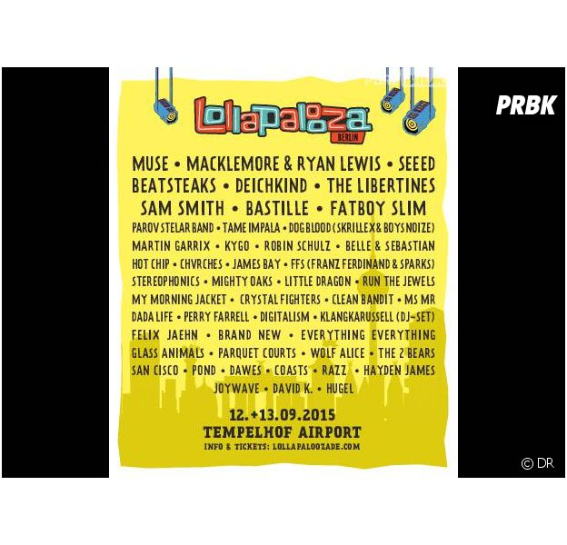 Sam Smith, James Bay, Macklemore & Ryan Lewis... Playlist spéciale Lollapalooza Berlin 2015