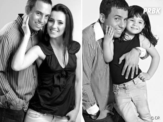 Rafael Del Col en duo avec sa fille Raisa imitant les vieilles photos de lui et Tatiane Valques.