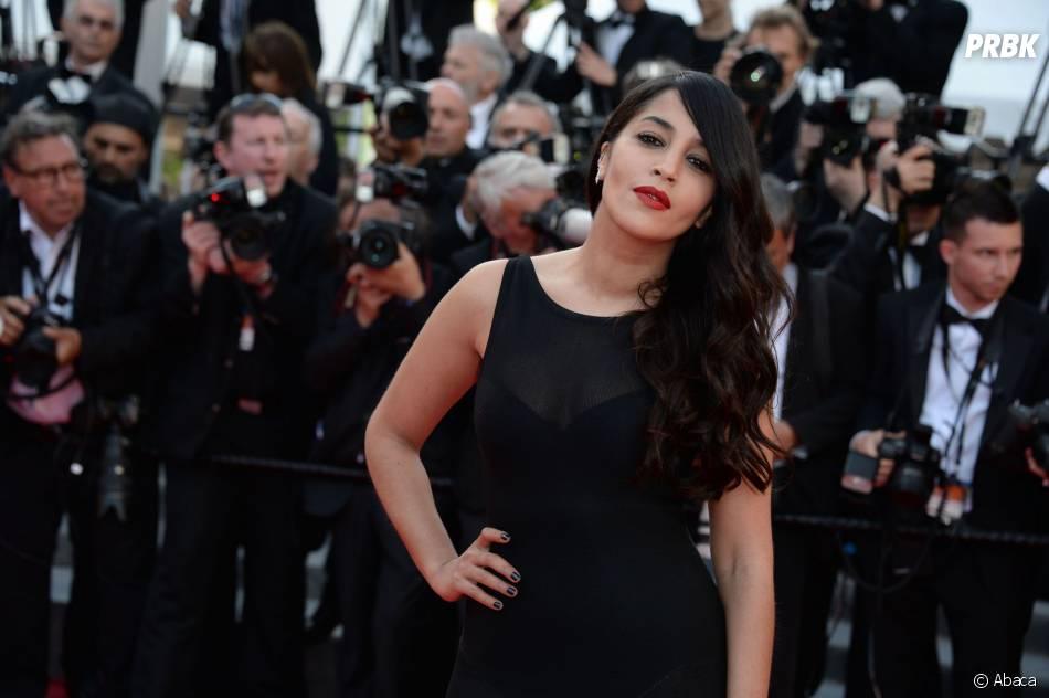 Leila Bekhti sublime et glamour au Festival de Cannes, le 18 mai 2014