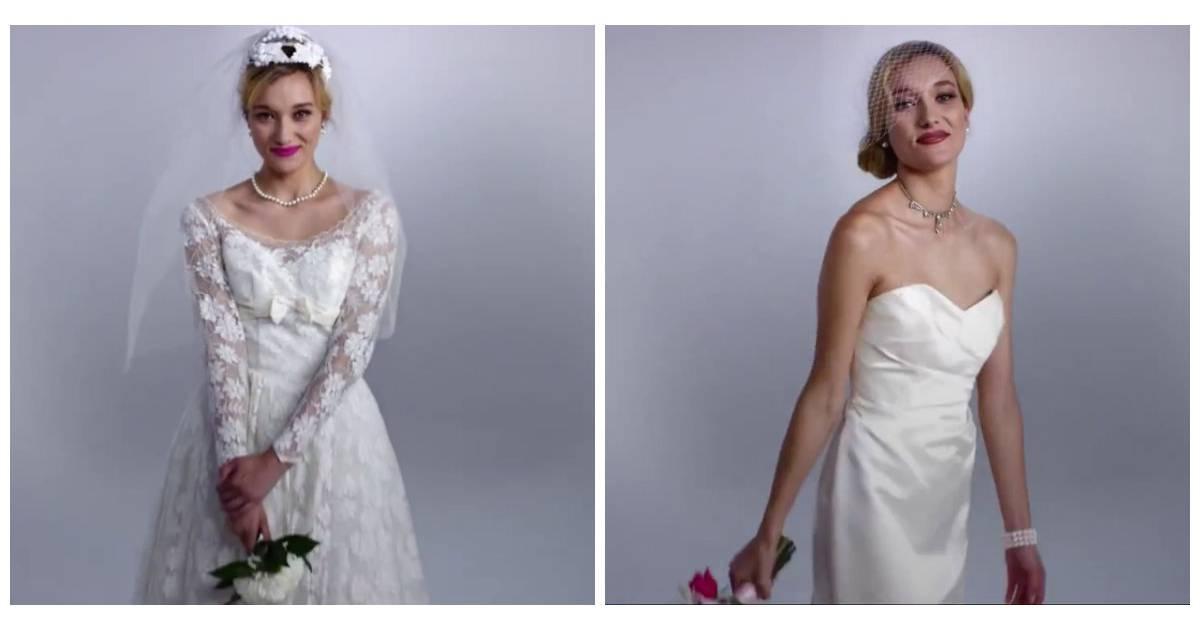 69e09729cdb 100 ans de robes de mariées en 3 minutes - Purebreak