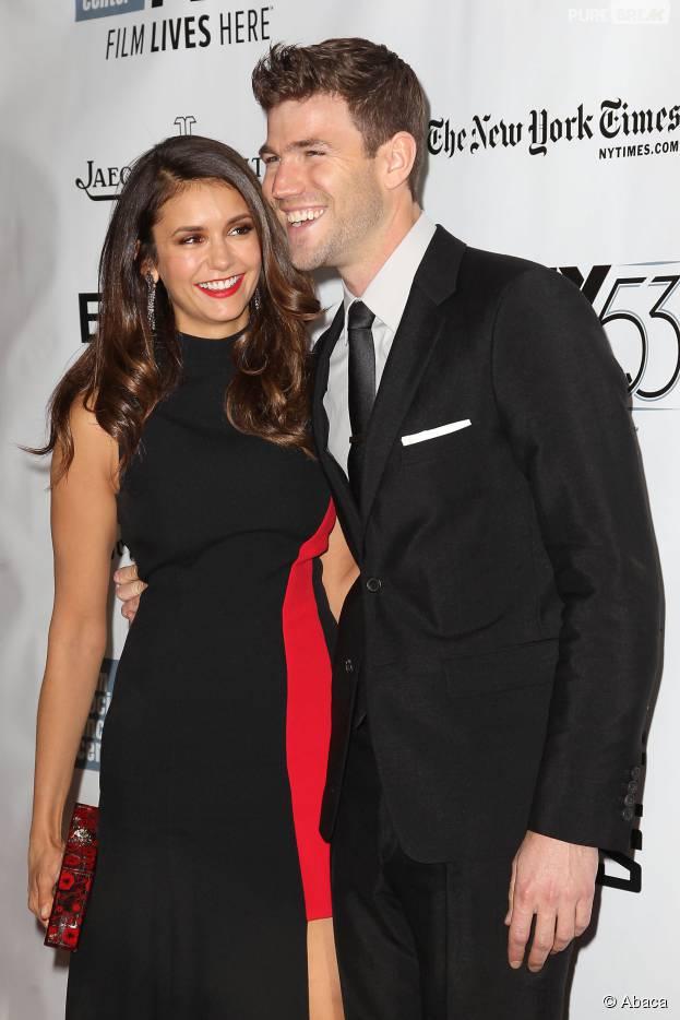 Nina Dobrev à l'avant-première du film Bridge of spies à New York le dimanche 4 octobre pour soutenir Austin Stowell, son nouveau copain