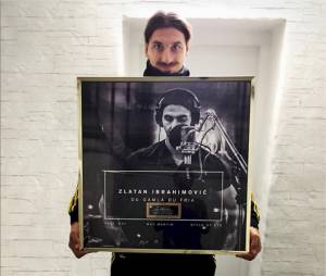 Zlatan Ibrahimovic : disque d'or pour sa reprise de l'hymne officiel de Suède, octobre 2015