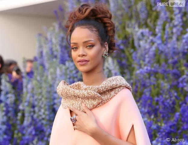 Rihanna au défilé Dior à Paris le 2 octobre 2015