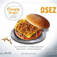 Speed Burger : pour Halloween, le service de livraison lance un burger... aux vers !