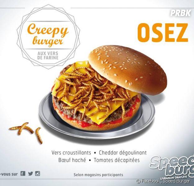 Speed Burger lance un burger aux vers pour Halloween