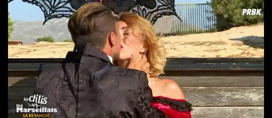 Les Ch'tis VS Les Marseillais : Gaëlle et Bilal s'embrassent lors d'un shooting