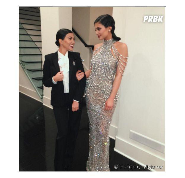 Kylie Jenner et Kourtney Kardashian aux 60 ans de Kris Jenner