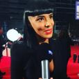 Shy'm critiquée sur sa coupe aux NMA 2015, le 7 novembre 2015, à Cannes
