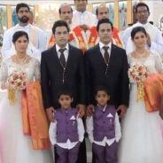 En Inde, deux jumeaux se marient à deux jumelles, le tout entouré de jumeaux !