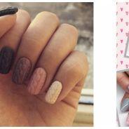 """La tendance nail art de cet hiver ? Des ongles """"tricotés"""" pour une manucure en relief"""