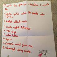 Un petit garçon de 7 ans écrit au Père Noël et lui fait une demande bouleversante