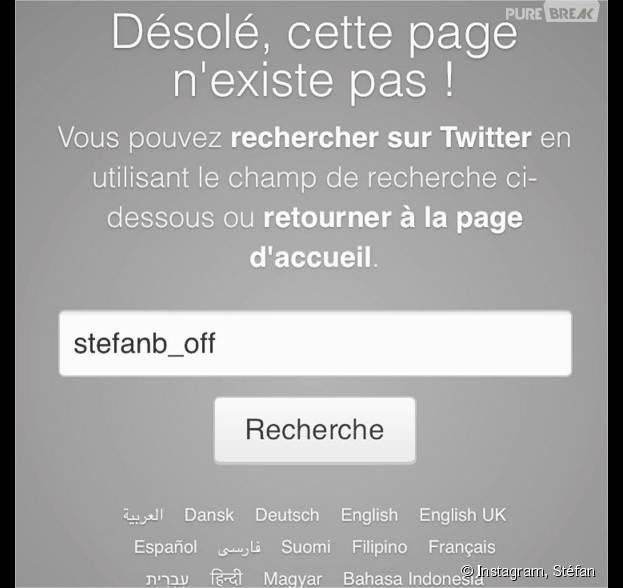 Stéfan (La villa des coeurs brisés) annonce la supression de son compte Twitter sur Instagram