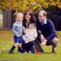 Princesse Charlotte et Prince George adorables sur une nouvelle photo officielle pour Noël 2015
