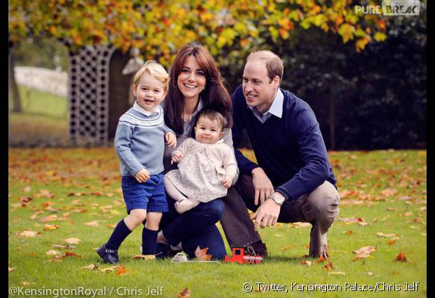 Princesse Charlotte, Prince George, Kate Middleton et Prince William : leur belle photo de famille pour Noel 2015