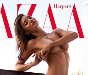 Miranda Kerr entièrement nue en couverture du magazine Harper's Bazaar (Janvier 2016)