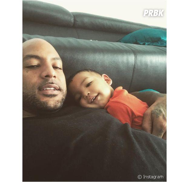 Booba et son fils Omar en photo sur Instagram