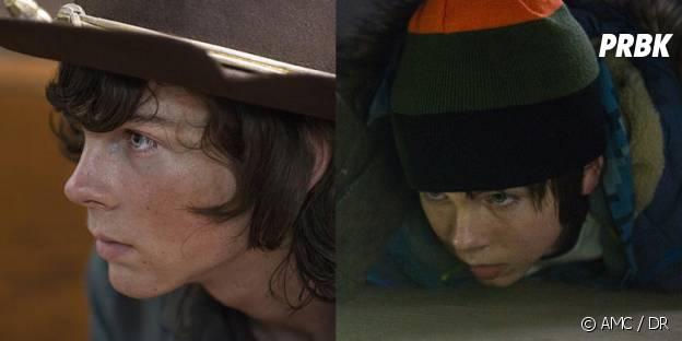 Chandler Riggs dans The Walking Dead et Mercy