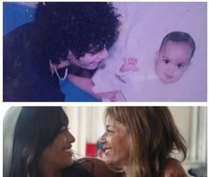 Amel Bent : photo bébé et photo de mariage pour l'anniversaire de sa mère, le 9 octobre 2015 sur Instagram