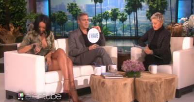 Rihanna et George Clooney : leurs confidences coquines à Ellen DeGeneres