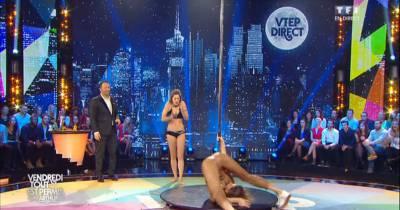 Laury Thilleman : cours de pole dance et grosse chute dans VTEP
