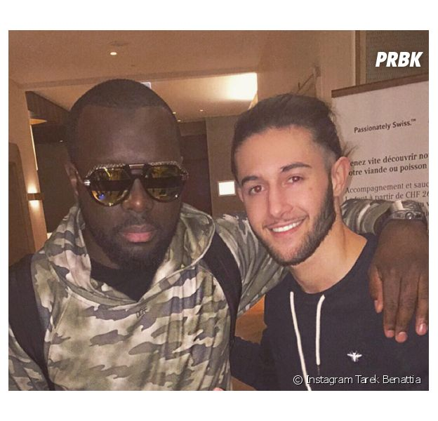 Tarek Benattia pose avec Maître Gims sur Instagram