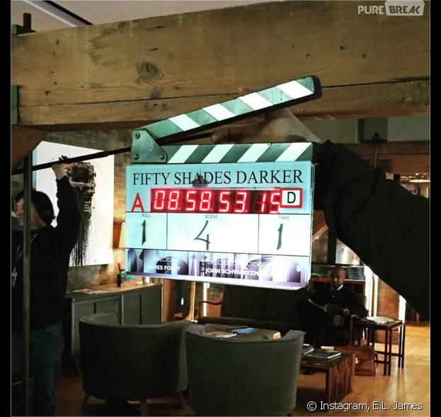 Fifty Shades Darker : la première photo du tournage dévoilée par E.L. James