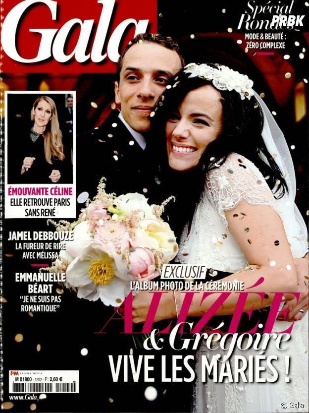 Alizée et Grégoire Lyonnet mariés en couverture du Gala le 22 juin 2016