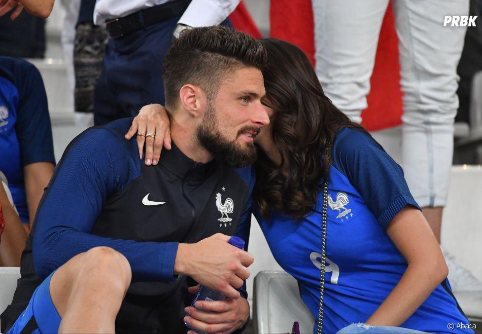 Jennifer et Olivier Giroud inséparables dans les tribunes