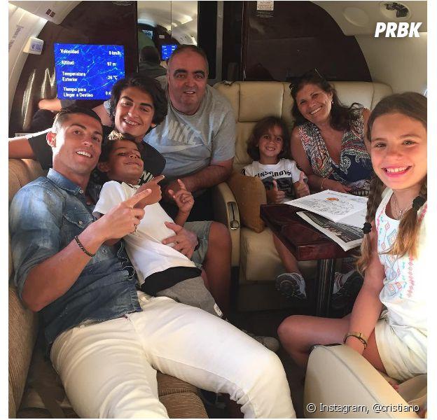 Cristiano Ronaldo en vacances avec sa famille après la victoire du Portugal à l'Euro 2016