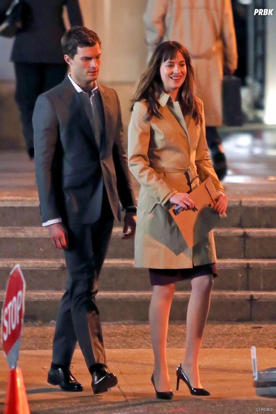 Dakota Johnson et Jamie Dornan sur le tournage deFifty Shades Darker