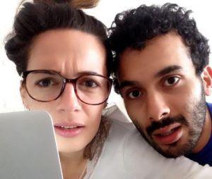 Ornella Fleury, qui pourrait être la nouvelle miss météo du Grand Journal, avec son amoureux Mustapha El Atrassi.