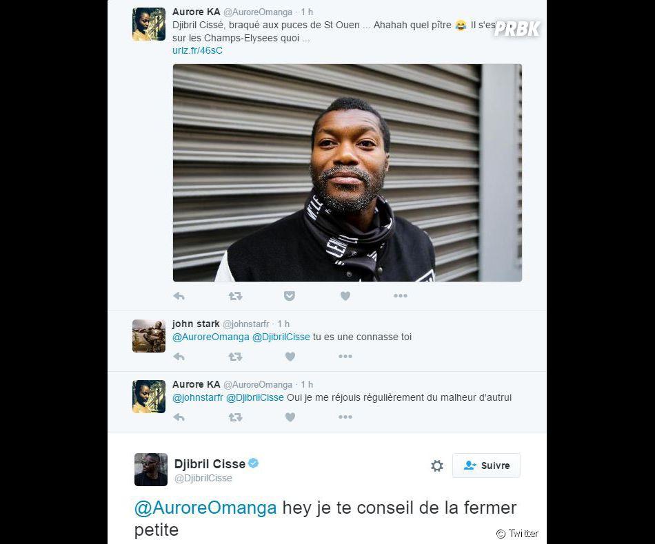 Djibril Cissé répond à une internaute sur Twitter après avoir été victime d'un braquage en Seine-Saint-Denis