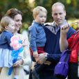 Le Prince William, Kate Middleton, le Prince George et la Princesse Charlotte au Canada le 30 septembre 2016