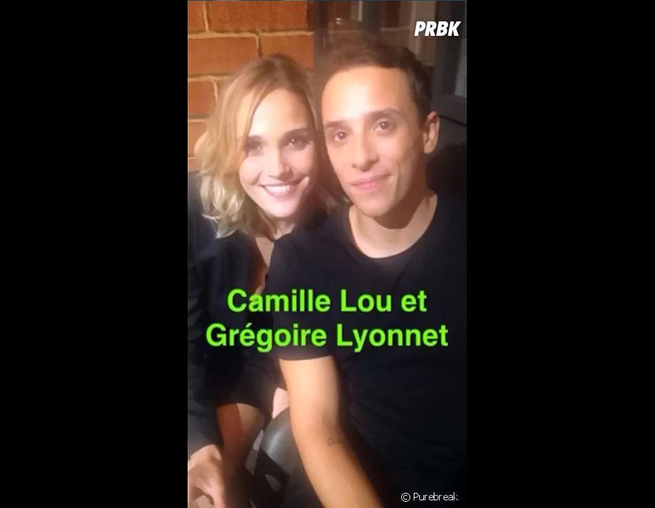 Camille Lou (Danse avec les stars 7) et Grégoire Lyonnet au micro de PRBK.