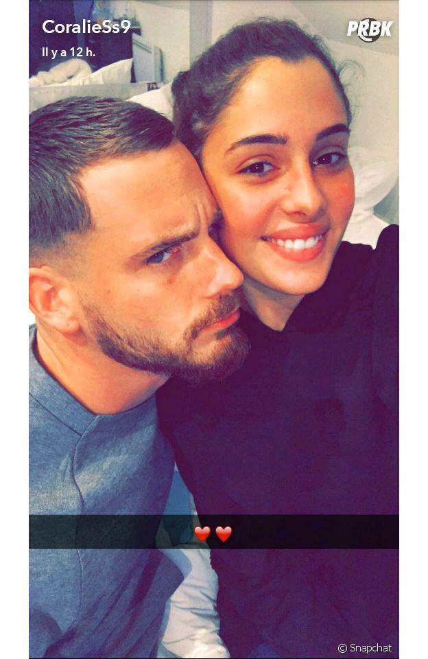 Coralie Porrovecchio et Raphaël de nouveau en couple sur Snapchat le 16 décembre 2016