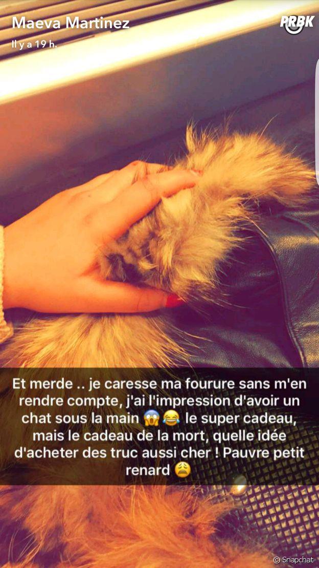 """Maeva (Secret Story 10) gênée de porter de la fourrure : """"Pauvre petit renard"""""""