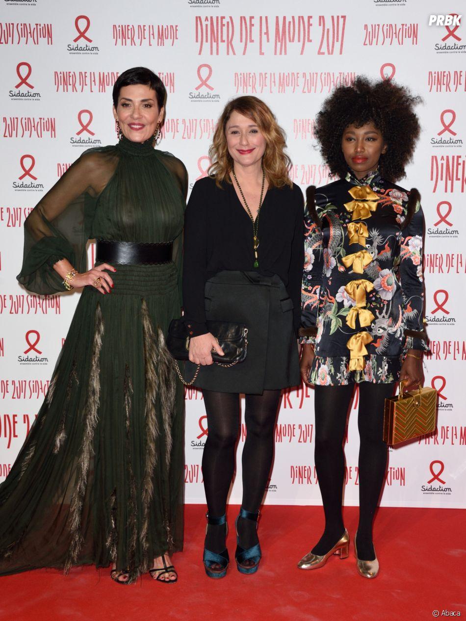 Cristina Cordula sur le tapis rouge du 15e Dîner de la mode contre le sida