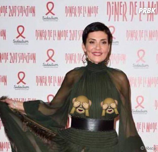 Cristina Cordula dévoile ses seins en transparence le 26 janvier 2017