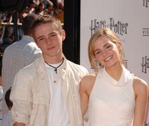 Emma Watson et son frère Alex Watson, en 2007