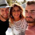 Jonathan (Les Anges 9) entouré de Jordan et Sarah Lopez avant son retour en France