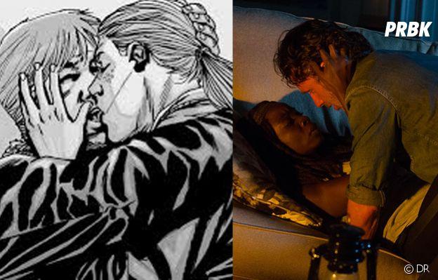 The Walking Dead : dans les comics, Rick sort avec Andrea et pas Michonne